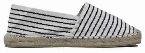CLASSIC FLAT, STRIPES WITH JUTE YARN COLOUR AND OVERLOCK - DARK BLUE