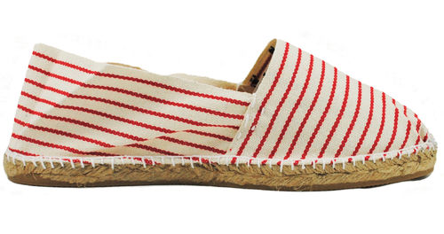 CLASSIC FLAT WITH STRIPES - EST.RED