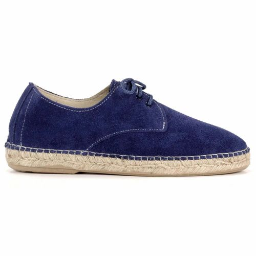 BLUCHER LEATHER DARK BLUE